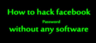 How to hack facebook password without any software? image