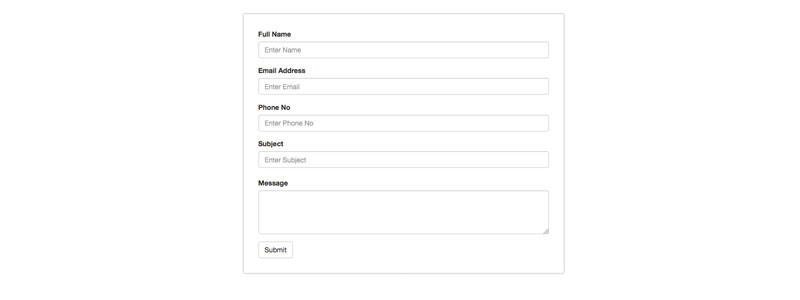 Simple And Clean Contact Form Html With Bootstrap