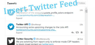 How to insert twitter feed into website or How to embed twitter feed into website ? image