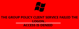 How to fix the group policy client service failed the logon.. Access is denied. image