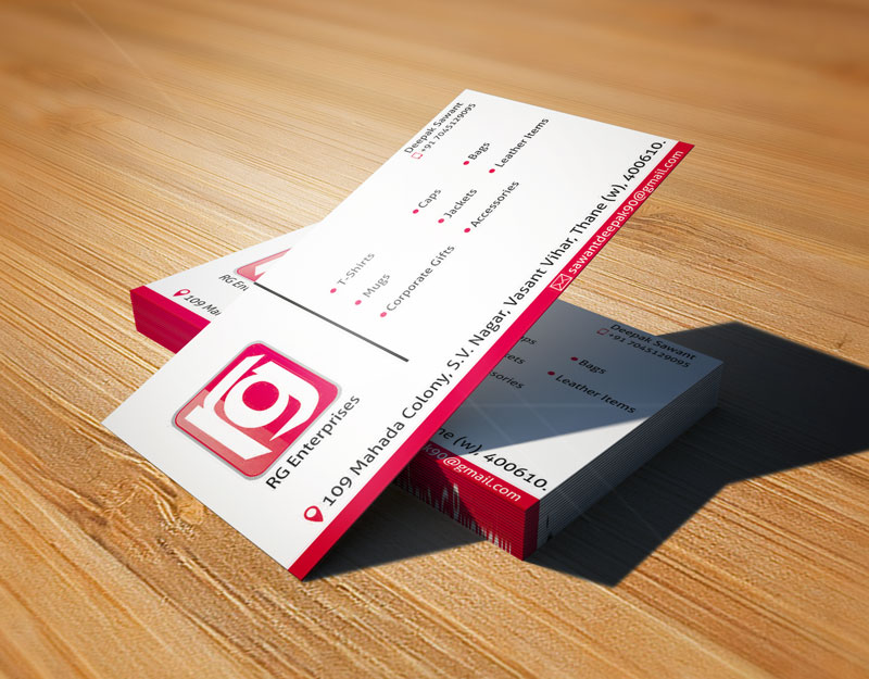 rg Enterprises Business Card Image