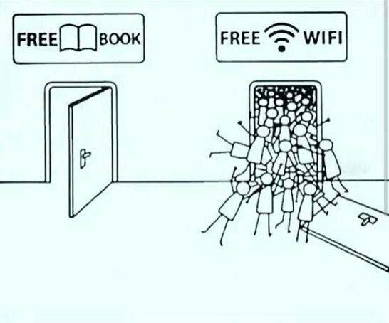 Everyone Wants Wifi and not a single person want to read book image