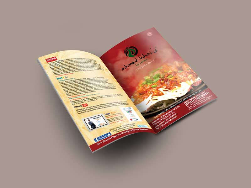 Ahmed Bhai's Menu Card Image