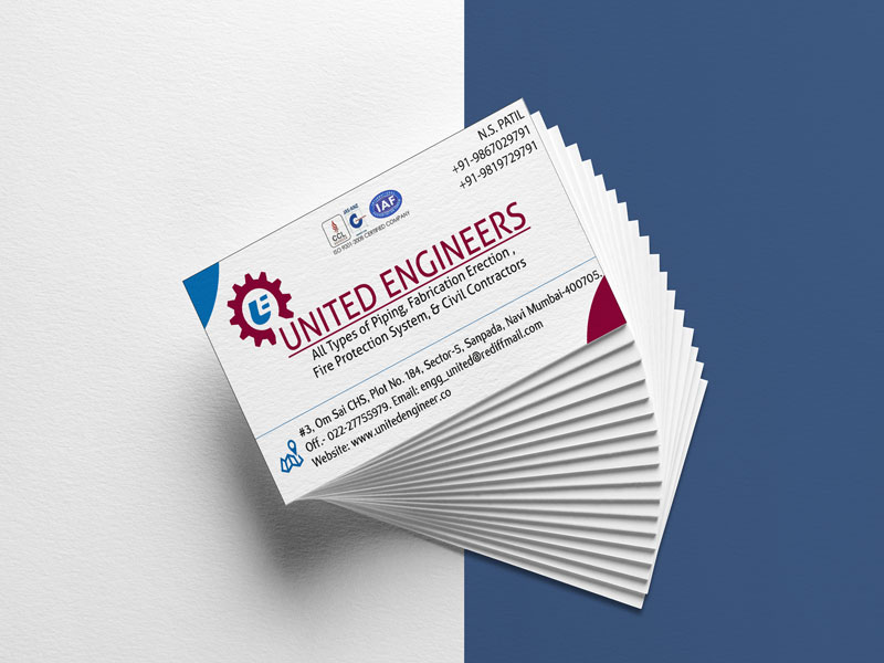 United Engineers Busiess Card Image