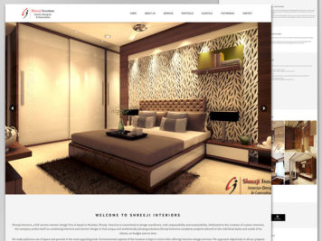 Shreeji Interiors Website Image