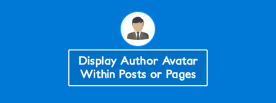 WordPress: Display Author Avatar Within Posts or Pages (Without Plugin) image