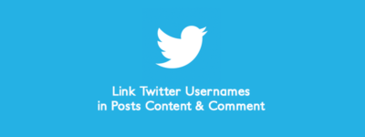 Automatically Link Twitter Usernames in Posts Content & Comment 🔗 image