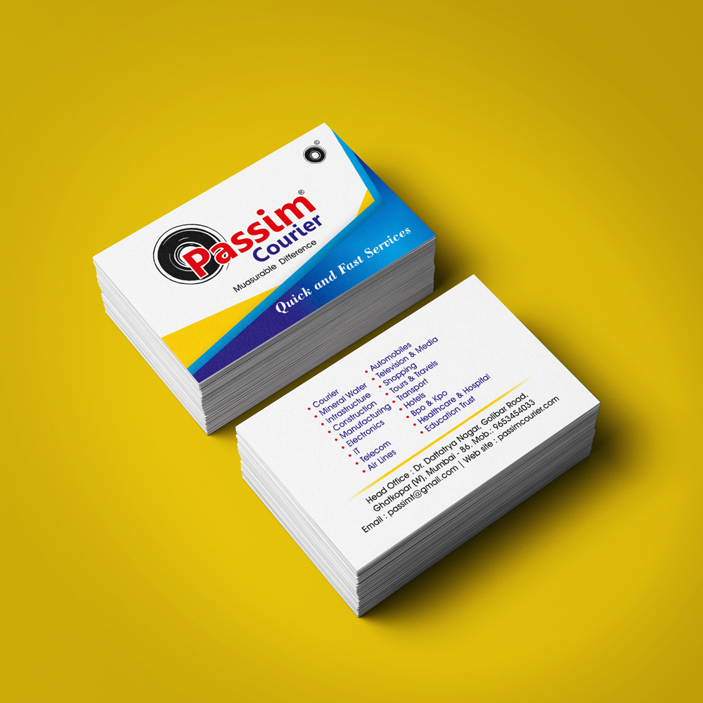 Passim Courier Business Card - Extra Catchy